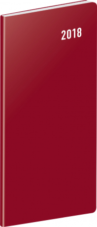 Kapesní diář Vínový 2018, plánovací měsíční, 8 x 18 cm