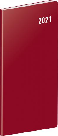 Kapesní diář Vínový SK 2021, plánovací měsíční, 8 × 18 cm