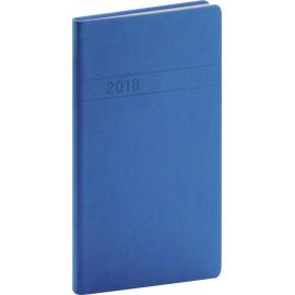 Kapesní diář Vivella 2018, modrý, 9 x 15,5 cm