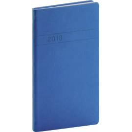 Pocket diary Vivella 2018, modrý, 9 x 15,5 cm