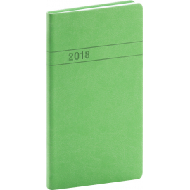 Pocket diary Vivella 2018, zelený, 9 x 15,5 cm
