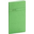 Kapesní diář Vivella 2018, zelený, 9 x 15,5 cm