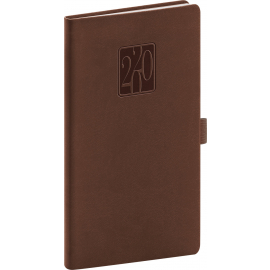 Pocket diary Vivella Classic brown 2020, 9 × 15,5 cm