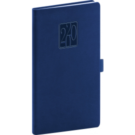 Pocket diary Vivella Classic dark blue 2020, 9 × 15,5 cm