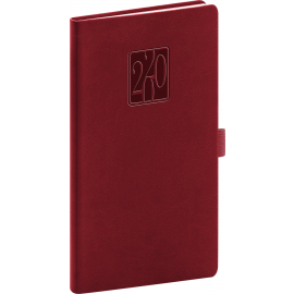 Pocket diary Vivella Classic burgundy 2020, 9 × 15,5 cm
