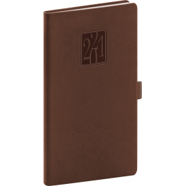 Pocket diary Vivella Classic brown 2021, 9 × 15,5 cm