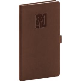 Pocket diary Vivella Classic brown 2021, 9 × 15,5 cm