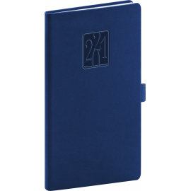 Pocket diary Vivella Classic dark blue 2021, 9 × 15,5 cm