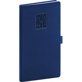 Kapesní diář Vivella Classic 2021, modrý, 9 × 15,5 cm