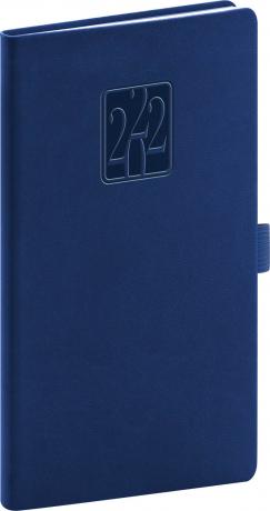 Kapesní diář Vivella Classic 2022, modrý, 9 × 15,5 cm