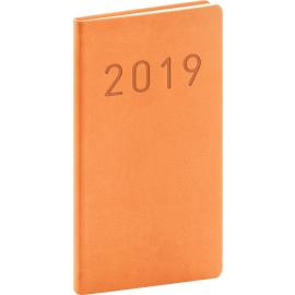 Kapesní diář Vivella Fun 2019, oranžový, 9 x 15,5 cm