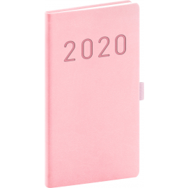 Pocket diary Vivella Fun pink 2020, 9 × 15,5 cm