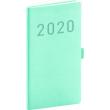 Kapesní diář Vivella Fun 2020, tyrkysový, 9 × 15,5 cm