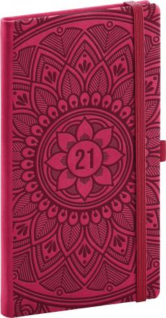 Kapesní diář Vivella Fun 2021, mandala, 9 × 15,5 cm
