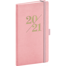 Pocket diary Vivella Fun pink 2021, 9 × 15,5 cm