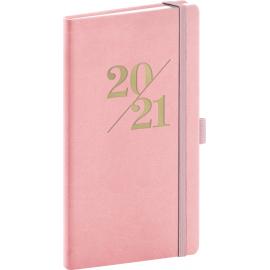 Kapesní diář Vivella Fun 2021, růžový, 9 × 15,5 cm