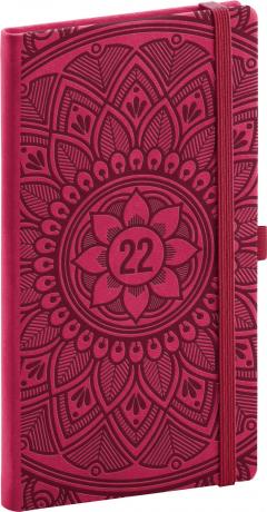 Kapesní diář Vivella Fun 2022, mandala, 9 × 15,5 cm