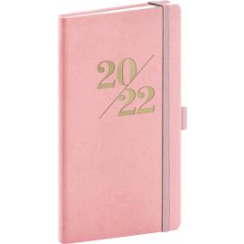 Kapesní diář Vivella Fun 2022, růžový, 9 × 15,5 cm