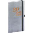 Kapesní diář Vivella Fun 2022, stříbrný, 9 × 15,5 cm