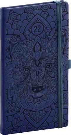 Kapesní diář Vivella Fun 2022, vlk, 9 × 15,5 cm