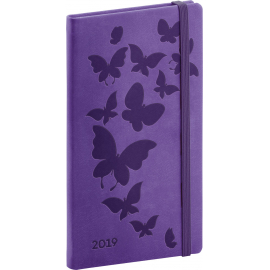 Pocket diary Vivella Special butterfly 2019, 9 x 15,5 cm