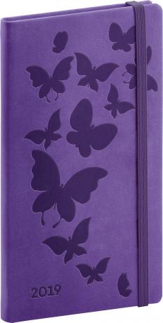 Kapesní diář Vivella Speciál 2019, fialový 2019, 9 x 15,5 cm