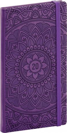 Kapesní diář Vivella Speciál 2020, mandala 2020, 9 × 15,5 cm