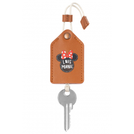 Lether key case Minnie