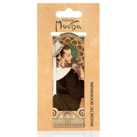 Magnetic bookmark Alfons Mucha – Heather