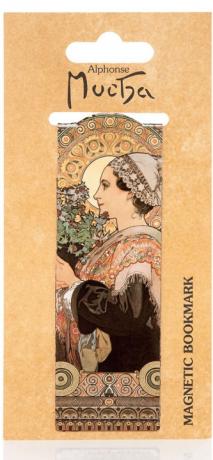 Magnetická záložka Alfons Mucha – Thistle