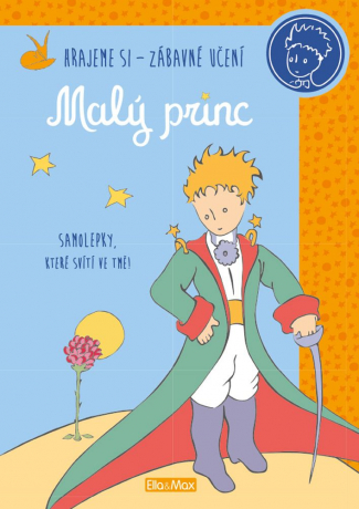 MALÝ PRINC – Kniha aktivit, oranžové svítící samolepky