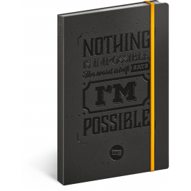 Motivation notebook, lined, 13 × 21 cm