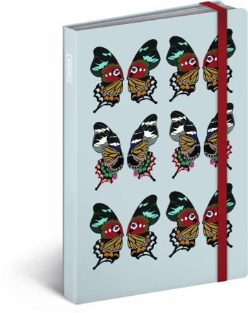Motýl, notes, 10,5 x 15,8 cm