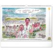 Nástěnný kalendář 120 let českého fotbalu – Petr Urban 2021, 48 × 33 cm