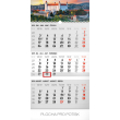 Nástěnný kalendář 3 mesačný Bratislava šedý – so slovenskými menami SK 2019, 29,5 x 43 cm