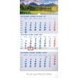 Nástěnný kalendář 3 mesačný Tatry modrý – so slovenskými menami SK 2019, 29,5 x 43 cm