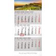 Nástěnný kalendář 3 měsíční krajina šedý – s českými jmény 2019, 29,5 x 43 cm