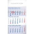 Nástěnný kalendář 3 měsíční standard modrý – s českými jmény 2019, 29,5 x 43 cm