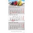 Nástěnný kalendář 3 měsíční truck šedý – s českými jmény 2019, 29,5 x 43 cm