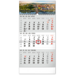 Nástěnný kalendář 3mesačný Bratislava šedý –  se slovenskými jmény SK 2021, 29,5 × 43 cm