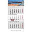 Nástěnný kalendář 3mesačný mesto šedý – so slovenskými menami SK 2018, 29,5 x 43 cm