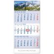 Nástěnný kalendář 3mesačný Tatry modrý – so slovenskými menami SK 2020, 29,5 × 43 cm