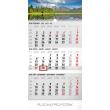 Nástěnný kalendář 3měsíční krajina šedý – s českými jmény 2018, 29,5 x 43 cm