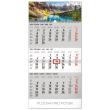 Nástěnný kalendář 3měsíční krajina šedý – s českými jmény 2020, 29,5 × 43 cm