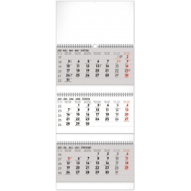 Wall calendar 3months Standard foldable with Slovak names 2021, 29,5 × 72 cm