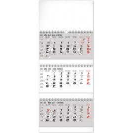 Nástěnný kalendář 3mesačný štandard skladací SK 2021, 29,5 × 72 cm
