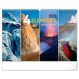 Nástěnný kalendář 4 Živly 2021 – Tomáš Míček, 48 × 33 cm