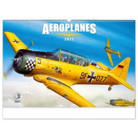 Nástěnný kalendář Aeroplanes – Jaroslav Velc 2021, 64 × 42 cm
