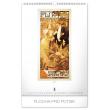 Nástěnný kalendář Alfons Mucha 2020, 33 × 46 cm