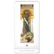 Nástěnný kalendář Alfons Mucha 2020, 33 × 64 cm